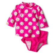 Joe Fresh™ 2-pc. Rashguard Swimsuit - Girls 3m-24m