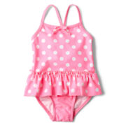 Joe Fresh™ 2-pc. Dot Swimsuit - Girls 3m-24m