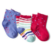Joe Fresh™ 3-pk. Crew Socks - Girls