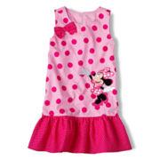 Disney Pink Minnie Mouse Woven Dress - Girls 2-10