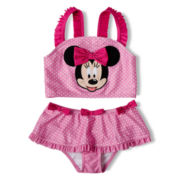 Disney Pink Minnie Mouse 2-pc. Swimsuit - Girls 2-10