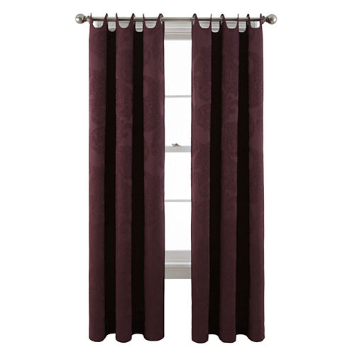 Royal Velvet® Viola Grommet-Top Scalloped Curtain Panel