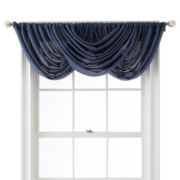 Royal Velvet® Sadler Rod-Pocket Waterfall Valance
