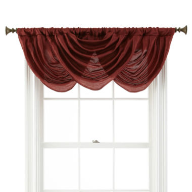 jcpenney.com | Royal Velvet® Britton Rod-Pocket Waterfall Valance