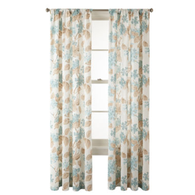 jcpenney.com | MarthaWindow™ Hydrangea Rod-Pocket Cotton Curtain Panel