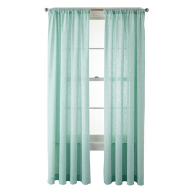 jcpenney.com | MarthaWindow™ Covington Square Rod-Pocket Cotton Curtain Panel