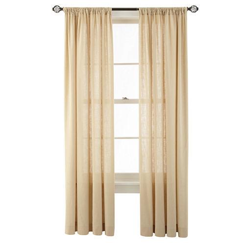 MarthaWindow™ Hawley Rod-Pocket Cotton Curtain Panel