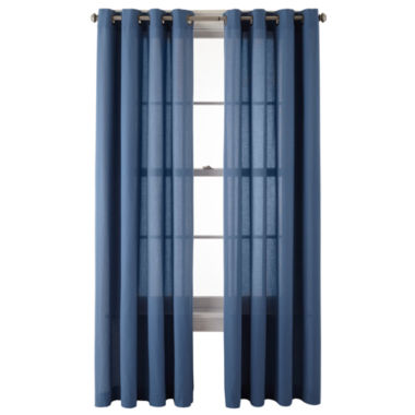 jcpenney.com | MarthaWindow™ Sidney Grommet-Top Curtain Panel