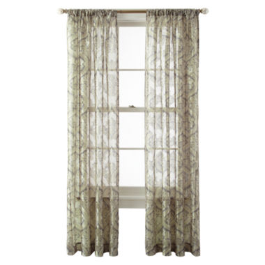 jcpenney.com | Royal Velvet® Opus Rod-Pocket Sheer Panel