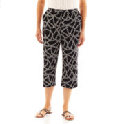 Alfred Dunner® Monte Carlo Chain-Print Pull-On Capris