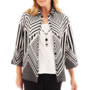 Alfred Dunner® Monte Carlo Layered Top with Necklace - Petite
