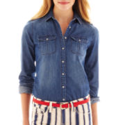 jcp™ 2-Pocket Denim Shirt