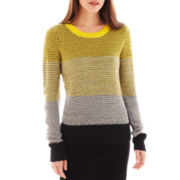 I 'Heart' Ronson® Long-Sleeve Texture-Striped Sweater