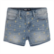 Levi's® Embellished Denim Shorty Shorts – Girls 7-16