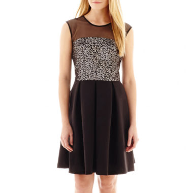 jcpenney.com | Studio 1® Sleeveless Sequin Fit-and-Flare Dress