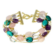 CLOSEOUT! Multi-Gemstone Link Bracelet