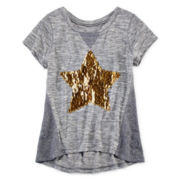 Total Girl® Short-Sleeve Sequin Tee - Girls 7-16