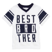 Okie Dokie® Short-Sleeve Graphic Sports Tee – Boys 2t-5t