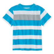 Okie Dokie® Short-Sleeve Striped Tee – Boys 2t-5t