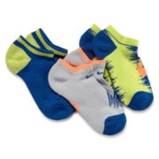 Nike® 3-pk. Quarter Graphic Cushion Socks - Boys 7-11