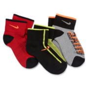 Nike® 3-pk. Quarter Graphic Cushion Socks – Boys 7-11