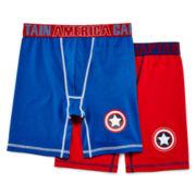Captain America 2-pk. Boxer Briefs – Boys S-XL