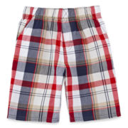 Okie Dokie® Plaid Shorts – Boys 4-7