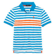 U.S. Polo Assn.® Short-Sleeve Striped Piqué Polo - Boys 8-18