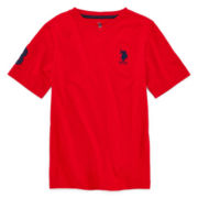 U.S. Polo Assn.® Short-Sleeve V-Neck Knit Tee – Boys 8-18