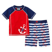 Baby Buns 2-pc. Anchors Away Swim Set - Boys 2t-4t