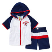 Baby Buns 2-pc. Lifeguard Cover Up Set - Boys 2t-4t