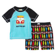 Baby Buns 2-pc. Surf's Up Swim Set - Boys 2t-4t