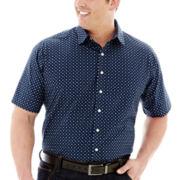 Claiborne® Short-Sleeve Woven Shirt–Big & Tall