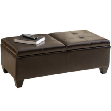 jcpenney.com | Dakota Bonded Leather Storage Ottoman