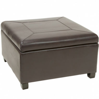 jcpenney.com | Neville Bonded Leather Storage Ottoman