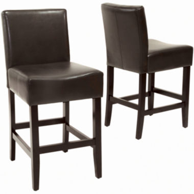 jcpenney.com | Kirby Set of 2 Bonded Leather Barstools