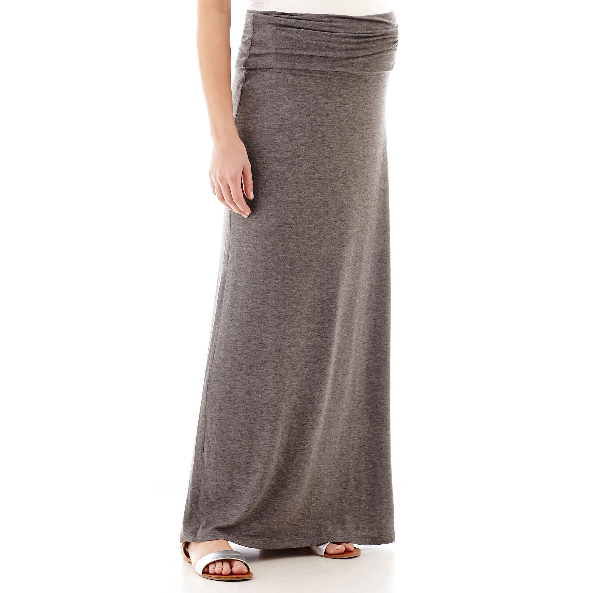 Maternity Knit Maxi Skirt - Plus plus size,  plus size fashion plus size appare