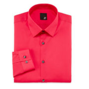JF J. Ferrar® Easy-Care Slim Solid Dress Shirt