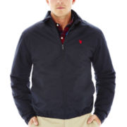U.S. Polo Assn.® Micro Golf Jacket with Plaid Lining