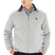 U.S. Polo Assn.® Micro Golf Jacket with Plaid Lining