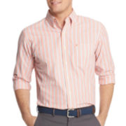 IZOD® Long-Sleeve Small Stripe Woven Shirt