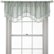 MarthaWindow™ Voile Double-Layered Ascot Valance