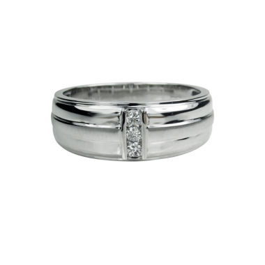 jcpenney.com | Mens 1/10 CT. T.W. White Diamond 10K Gold Band