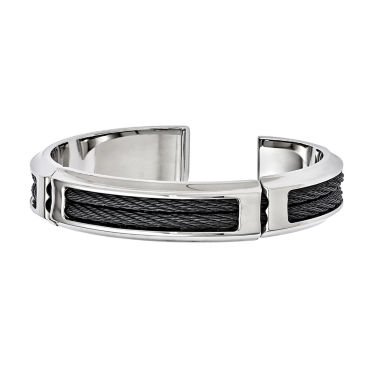 jcpenney.com | Edward Mirell Mens 8 Inch Stainless Steel Titanium Link Bracelet