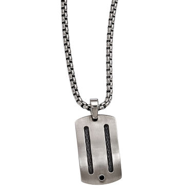 jcpenney.com | Edward Mirell Argentium® Sterling Silver Mens Black Spinel Titanium Pendant Necklace