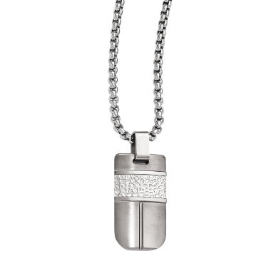 jcpenney.com | Edward Mirell Mens Stainless Steel Titanium Pendant Necklace