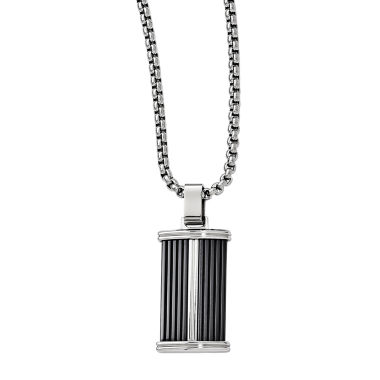 jcpenney.com | Edward Mirell Black Ti™ Mens Stainless Steel Titanium Pendant Necklace