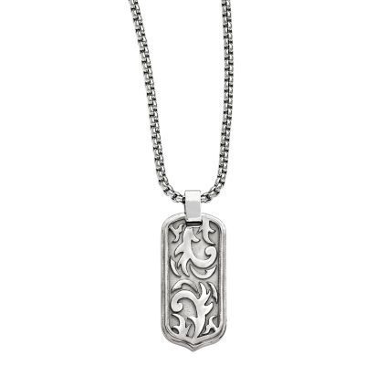 Fine Jewelry Edward Mirell Mens Stainless Steel Pendant Necklace 8NBy0