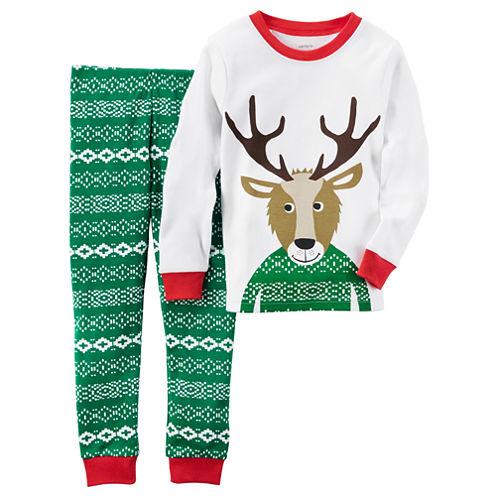 Carter'S Boys Long Sleeve Pant Pajama Set-Baby