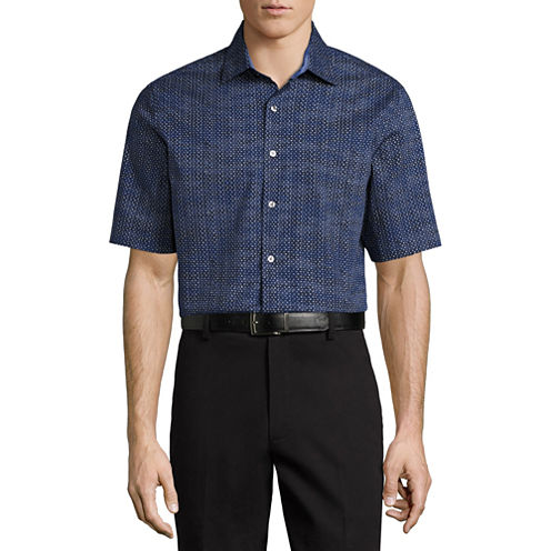 Claiborne Short Sleeve Camouflage Button-Front Shirt